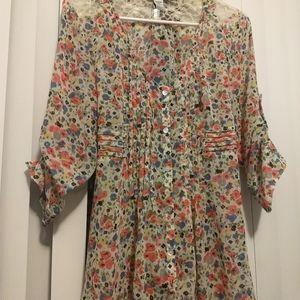 American Rag flowered shirt
